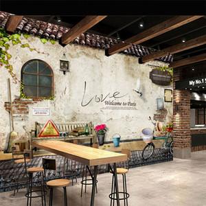 Personalizado foto papel de parede murais clássico antigo rua parede foto paris cozinha café restaurante cenário papel de parede papel de parede 3d