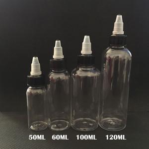 Бутылки капельницы E Cig пластичные с закруткой с крышек 30ml 50ml 60ml 100ml 120ml форма ручки бутылка единорога пустые бутылки любимчика для E-жидкости