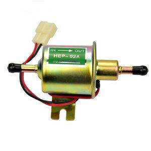 1 unids Universal Electronic Pump HEP-02A 12 V 1.5A Combustible Gasolina Petróleo Gasolina Diesel Bombas de Metal Para Carburador Motocicleta