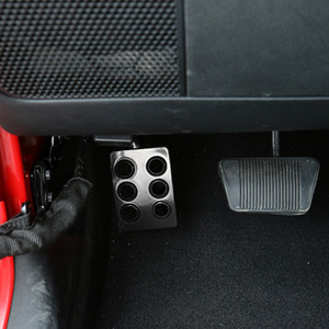 Dead Pedal Pads Foot Rest Pedal High Quality New Black Metal for 2007-2017 Jeep Wrangler JK & Unlimited