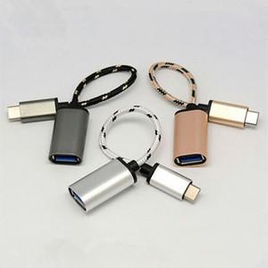 20 cm stoff geflochtene nylon otg daten host kabel typ c usb-c otg adapter für samsung galaxy i9300 s3 s4 htc sony xiaomi huawei android handys