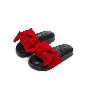 KIDS Summer Toddler Bow Children Slide Sandalo da spiaggia casual Baby Girl Black Mule Kid Fashion Slip On Slipper