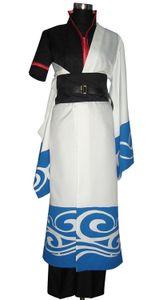 Sakata Gintoki cosplay costumi completi di abiti giapponesi anime Gintama