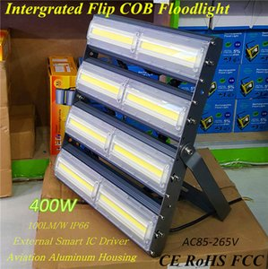 400W High Power Flip COB Flood Lights Newest Factory Outlet LED Floodlight 40000lm COB Chip Highway / Tunnel / Canopy Lights Водонепроницаемый