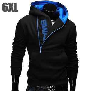 6XL 패션 브랜드 후드 남성용 남성용 스웨터 남성용 지퍼 후드 자켓 캐주얼 운동복 Moleton Masculino Assassins Creed Outwear