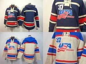 2016 Новый розничная цена завода Новый Старый время хоккей 2014 2014 олимпийской сборной США пустой нет номер флис балахон кофта вышивка логотипов