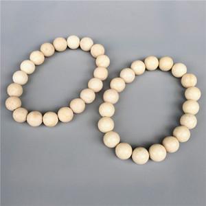 Braccialetto di perle di diaspro fossile di 10mm, bracciale elastico, bracciale di pietre preziose, bracciale di perline, perle di pietra opache o levigate