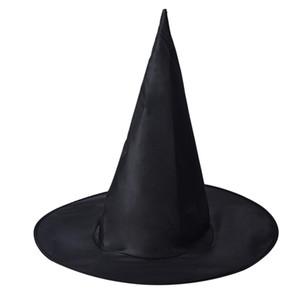 Atacado-2016 Hot Mulheres Preto Witch Hat para o traje do Dia das Bruxas Acessório Hat Costume Party Props Disfraz de Halloween