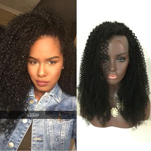 Afro Curls Mongol cabelo humano curto bob Tiny Afro Kinky Curly Perucas de Cabelo Humano Cheia Do Laço / Peruca Dianteira Para As Mulheres Negras em estoque