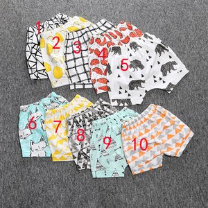 INS Pants Summer Geometric Animal Print Baby Shorts Pants Kids Baby Clothing Free shipping