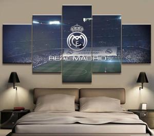5 Panel Gerçek Madrid La Liga Oturma Resim Için Tuval Baskılı Boyama Duvar Art HD Baskı Dekor Modern Sanat Eserleri Futbol Poster