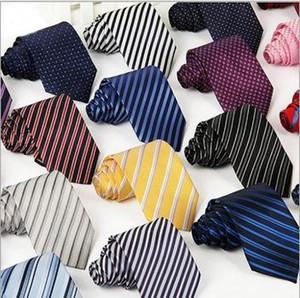Vendita calda 35 colori uomini business tiratura formale maschile fashion cravatta per il tempo libero sottile cravatta stretta arrow cravatta skinny striscia dava dava da uomo party party casual