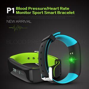 P1 Smartband Montres Moniteur De Fréquence Cardiaque Bracelet Pression Artérielle Bracelet Intelligent Fitness pour Android IOS Téléphone Fitness Tracker
