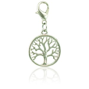 Fashion Floating Charm With Lobster Clasp Dangle Metal Tree Of Life Pendants DIY Charms For Jewelry Making Accessories
