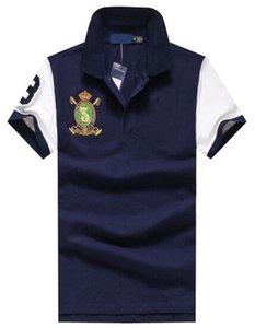 2017 hommes d'été à manches courtes Polo grand cheval cravate manches courtes polos hommes casual M-XXL Polos