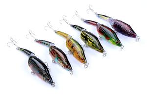 Искусственная приманка Minnow 3 Bass Fishing сегментов приманок 9.5cm 9g Камуфляж PS покрыло Split Хвост VIB Bait