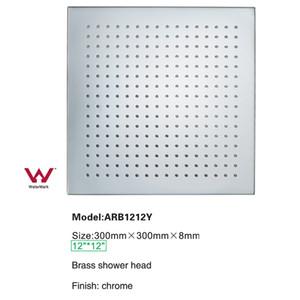 현대 욕실 샤워 액세서리 12 인치 황동 크롬 광장 비가 가을 높은 품질의 샤워 헤드
