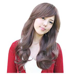 Черный коричневый девушки сладкий прекрасный пункт парик пушистые длинные волосы вьющиеся парик бесплатный парик шнурка крышки peluca peruca косплей синтетических волос