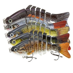"10cm / 4"" 15,5 g Bionic multi Jointed pesca Lure SUN-FISH rígido Bait Baixo Perch Walleye Pike Muskie Roach Trout Swimbait"