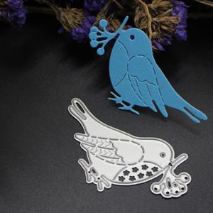 Petit oiseau bricolage en métal découpe matrices pochoir Scrapbook carte album papier gaufrage artisanat