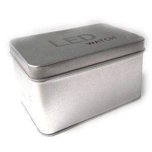 Оптовая продажа-низкая цена горячие продажи площадь смотреть Box бумага / Оловянная плита часы чехол подарочная коробка для часы