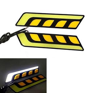 1 Par de Manter Um Par À Prova D 'Água 12 V COB Car Luzes LED DRL Nevoeiro Diurna Lâmpada de Condução Super Brilhante Farol 20 cm