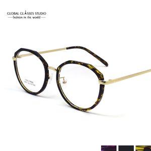 Última tendencia Retro Gafas redondas Montura de marco de metal ultraligero Gafas de lectura Gafas graduadas 2640