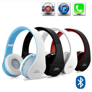 Moda Sem Fio dobrável DJ estéreo de áudio Bluetooth Stereo Headset Handsfree Fones De Ouvido Fones De Ouvido Fone de Ouvido com um fone de ouvido de rádio FM 8252
