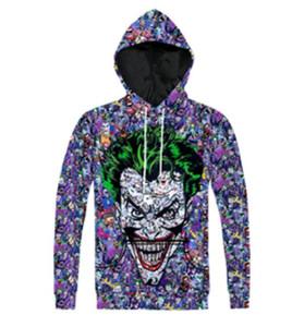 Nouveau Mode Couples Hommes Femmes Unisexe DC Comics Vert Cheveux Joker 3D Imprimer Hoodies Pull Sweat Veste Pull Top T42