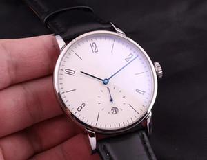 Haute qualité montre-bracelet pour hommes de mode Entièrement automatique date de mouvement mécanique multifonction montre miroir de renfort minéral NMS