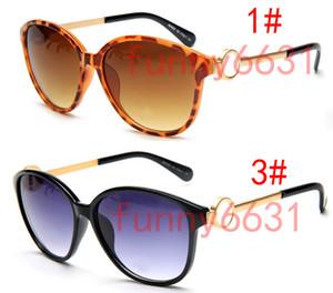 metálica mujeres del verano nuevas gafas gafas de sol adultas señoras de la manera viento al aire libre chicas Negro Gafas de conducción vidrios de Sun gota libre