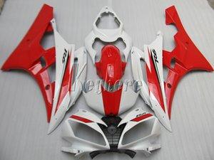 Carénages de moules d'injection pour Yamaha YZF R6 07 08 kit carénage rouge blanc yzf R6 2007 2008 IY02