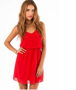 Europe and the United States burst chiffon sleeveless thin loose beach skirt nightclub dress summer dress skirt postage