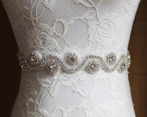 실버 라인 석 아플리케 웨딩 벨트 클리어 크리스털 35Cm 길이 Sewing in Bridal Sashes 웨딩 드레스 Sashes Bridal Accessories T53