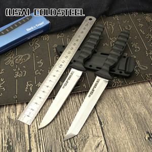 Холодная сталь мини самурай фиксированным лезвием ножа лезвие 7CR14MOV ABS + TPR открытый кемпинг выживания нож ручка охотничьи инструменты выживания Рождество gi