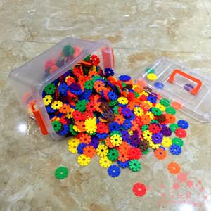 200 unids más gruesos bloques de construcción de plástico 3d puzzle juguetes educativos para niños con caja de regalo
