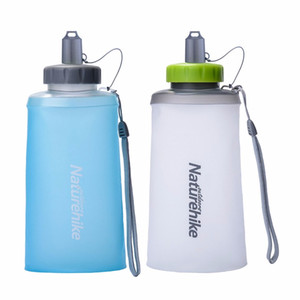 750ML Unique Foldable TPU Drink Sport Water Bottle Camping Cycling Outdoor Sport Bottle Wide Mouth Water Bottle Free Shipping