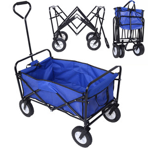 Panier de wagon pliant pliable Jardin Buggy Shopping Beach Toy Sports Bleu