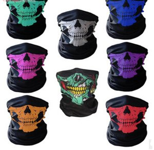 Nuovo moto Bicycle Outdoor Sports Neck Mask Mask Skull Mask Full Face Head Hood Protector Bandanas 20 PCS