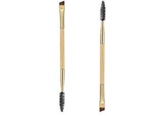 Оборотень двухсторонними Bamboo Brow Brush Профессиональный макияж инструменты для бровей кисти + бровей расчески сделать щетку