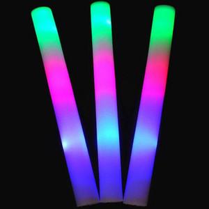 Flash sticks bâtons lumineux club lumières en gros personnalisé led bâton lumineux coloré mousse éponge barre de lumière expédition rapide