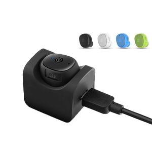 Stereo Mini sem fio Bluetooth fones de ouvido Fones de ouvido Mic Sports Headphones Light Weight fone de ouvido com veículo automóvel Mount Air doca de carregamento Base de Dados