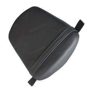 Asiento trasero Pillion de cuero artificial para Yamaha YZF R6 2003-2005 R6S 2006-2009 Negro