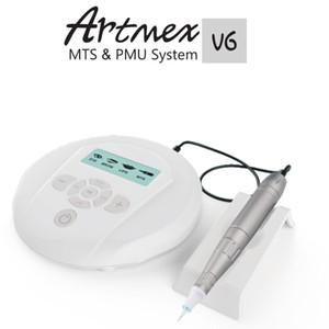 2017 NEUE ARTMEX V6 Derma Stift Auto Microneedle System Einstellbare Nadel Längen 0,25mm-3,0mm Elektrische Dermapen Stempel Permanent Make-Up Maschine