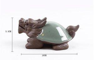 Nueva llegada del dragón de la tortuga china tesoro té mascota arena gruesa Kung Fu juegos de té de regalo accesorio de embalaje t80