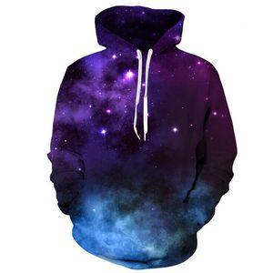 Новое прибытие взрыв голубое небо 3D печати с капюшоном мужчины свитер Mh018 Мужские толстовки кофты