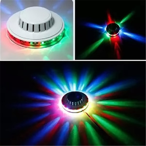 Incredibile Mini UFO Laser portatile Luci di scena Girasole RGB illuminazione a led lampada da parete per KTV DJ Wedding Party US / EU Plug effetto luce