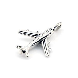 MIC 200pcs argento antico in lega di zinco aereo Charms 24mm gioielli fai da te