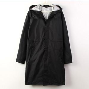 WPC Siyah / Mavi pelerin Yağmurluk Erkekler balıkçılık Yağmur Ceket Ponchos Ceketler Chubasqueros Impermeables çapa de chuva