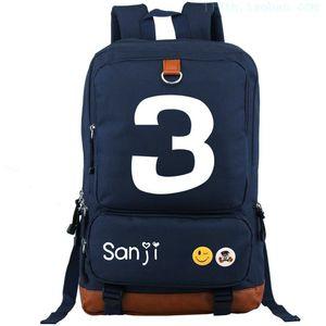 Vinsmoke Sanji 3 backpack One piece daypack Hot anime schoolbag Cartoon rucksack Sport school bag Outdoor day pack